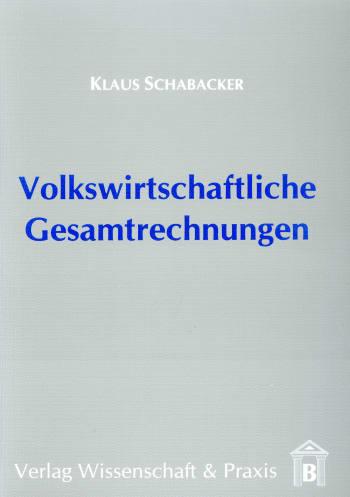 Cover: Volkswirtschaftliche Gesamtrechnungen