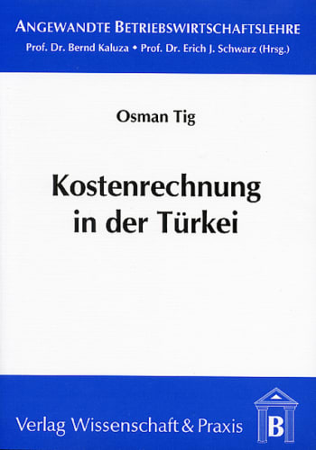 Cover: Kostenrechnung in der Türkei