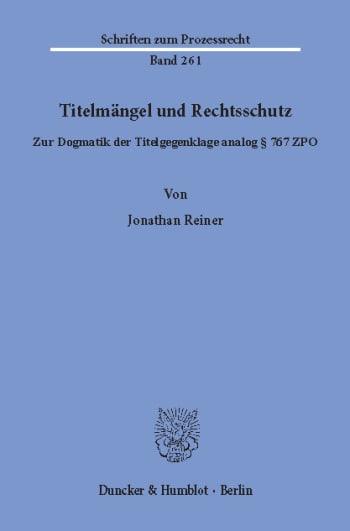 Cover: Titelmängel und Rechtsschutz