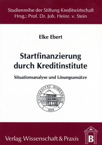 Cover: Startfinanzierung durch Kreditinstitute