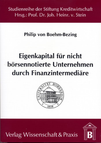 Cover: Eigenkapital für nicht börsennotierte Unternehmen durch Finanzintermediäre