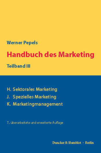 Cover: Handbuch des Marketing, Teilband III