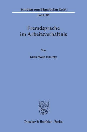 Cover: Fremdsprache im Arbeitsverhältnis