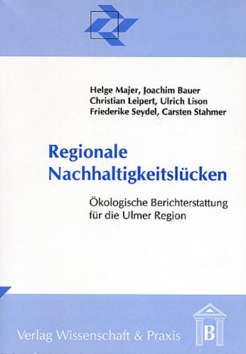 Cover: Regionale Nachhaltigkeitslücken