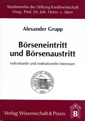 Cover: Börseneintritt und Börsenaustritt