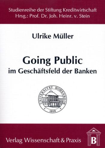 Cover: Going Public im Geschäftsfeld der Banken
