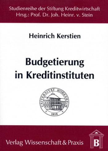 Cover: Budgetierung in Kreditinstituten