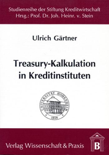 Cover: Treasury-Kalkulation in Kreditinstituten