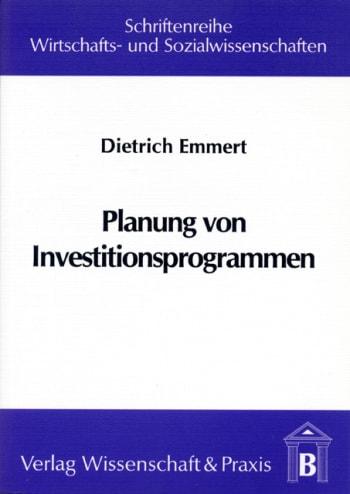 Cover: Planung von Investitionsprogrammen