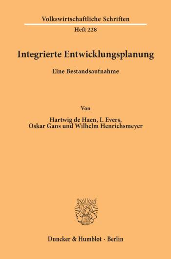 Cover: Integrierte Entwicklungsplanung