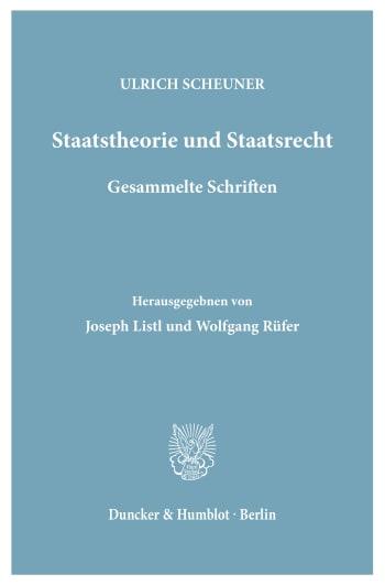 Cover: Staatstheorie und Staatsrecht