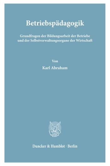 Cover: Betriebspädagogik