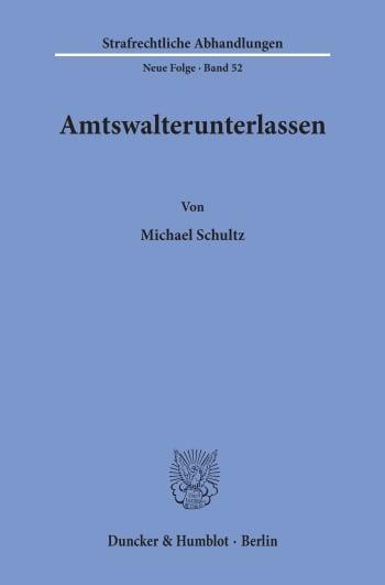 Cover: Amtswalterunterlassen