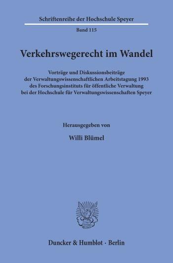 Cover: Verkehrswegerecht im Wandel
