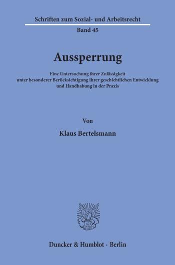 Cover: Aussperrung