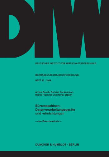 Cover: Büromaschinen, Datenverarbeitungsgeräte und -einrichtungen