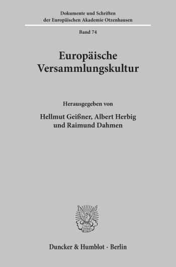 Cover: Europäische Versammlungskultur