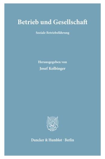 Cover: Betrieb und Gesellschaft