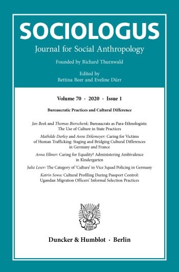 Cover: Sociologus (SOC)