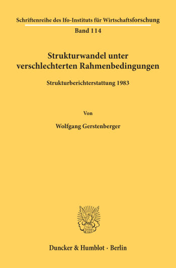 Cover: Strukturwandel unter verschlechterten Rahmenbedingungen