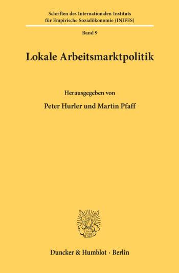 Cover: Lokale Arbeitsmarktpolitik