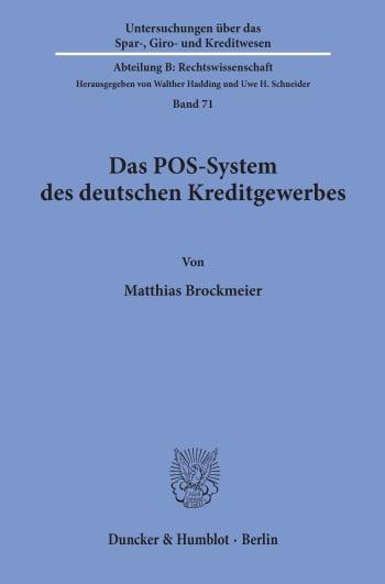 Cover: Das POS-System des deutschen Kreditgewerbes