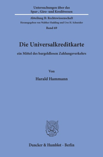 Cover: Die Universalkreditkarte