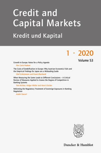 Cover: Credit and Capital Markets (CCM)