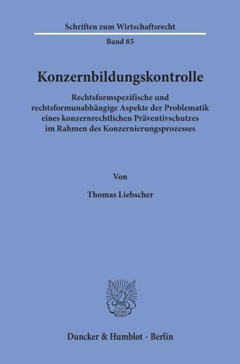 Cover: Konzernbildungskontrolle