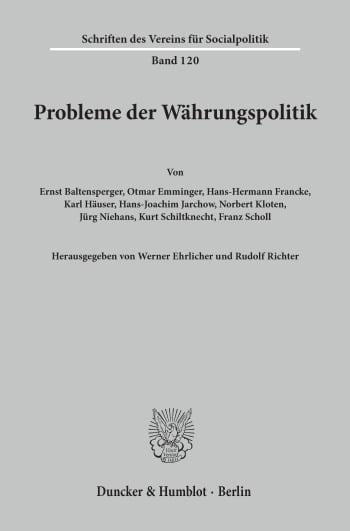 Cover: Probleme der Währungspolitik