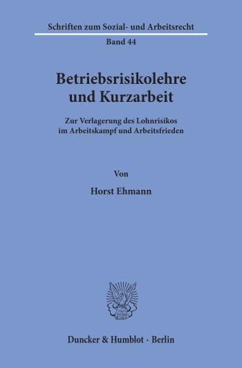 Cover: Betriebsrisikolehre und Kurzarbeit