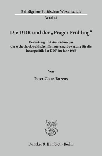 """Cover: Die DDR und der """"Prager Frühling"""""""