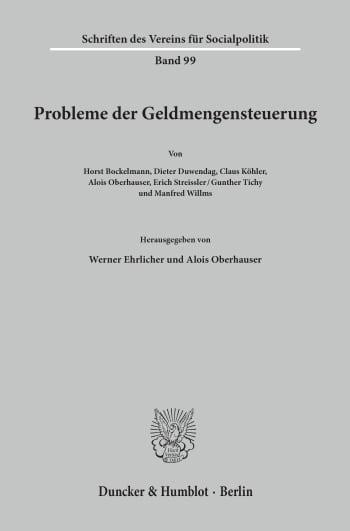 Cover: Probleme der Geldmengensteuerung
