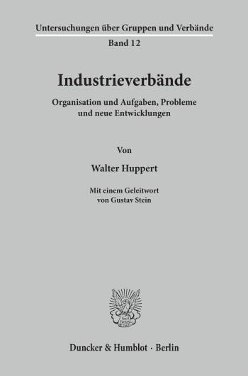 Cover: Untersuchungen über Gruppen und Verbände (UGV)