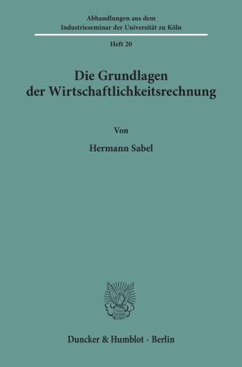 Cover: Abhandlungen aus dem Industrieseminar der Universität zu Köln (AIK)