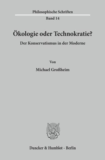 Cover: Ökologie oder Technokratie?