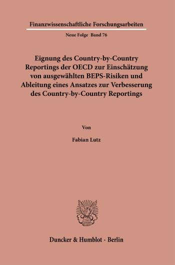 Cover: Finanzwissenschaftliche Forschungsarbeiten (FF)