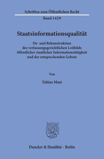 Cover: Staatsinformationsqualität