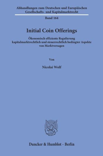 Cover: Initial Coin Offerings