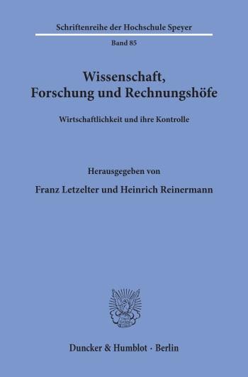 Cover: Wissenschaft, Forschung und Rechnungshöfe