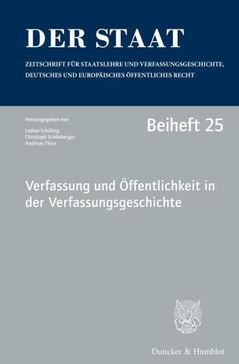 Cover: Beihefte zu »Der Staat« (BH STAAT)