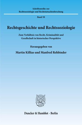 Cover: Rechtsgeschichte und Rechtssoziologie
