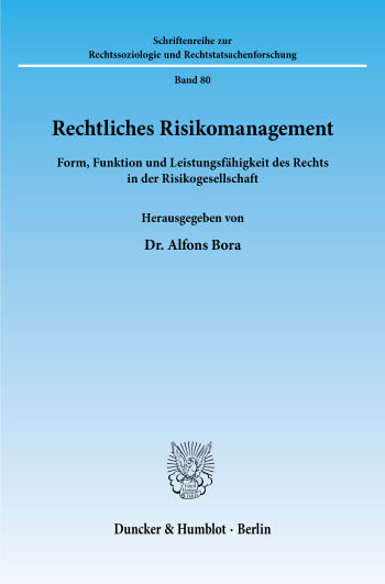 Cover: Rechtliches Risikomanagement