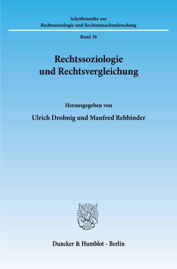 Cover: Rechtssoziologie und Rechtsvergleichung