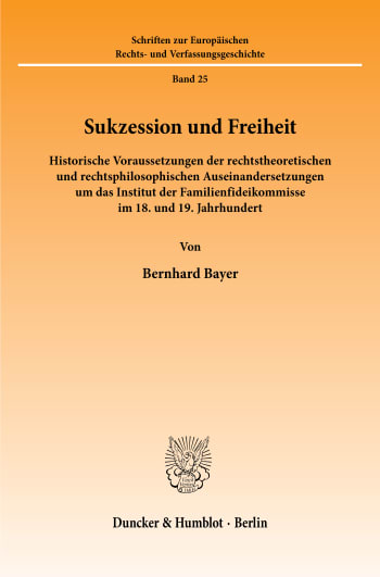 Cover: Sukzession und Freiheit