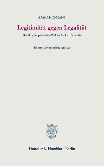 Cover: Legitimität gegen Legalität