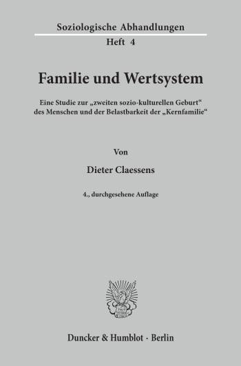 Cover: Familie und Wertsystem