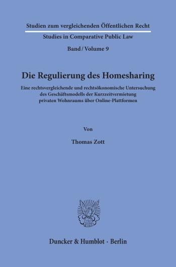 Cover: Die Regulierung des Homesharing