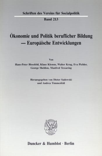 Cover: Ökonomie und Politik beruflicher Bildung - Europäische Entwicklungen