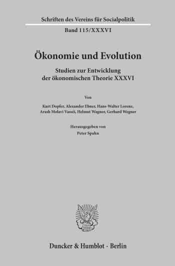 Cover: Ökonomie und Evolution